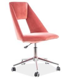 Fotel obrotowy PAX VELVET - różowy