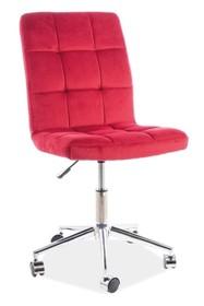 Fotel obrotowy Q-020 VELVET - bordowy Bluvel 59