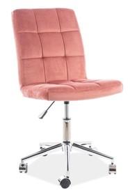 Fotel obrotowy Q-020 VELVET - różowy Bluvel 52