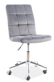 Fotel obrotowy Q-020 VELVET - szary Bluvel 14