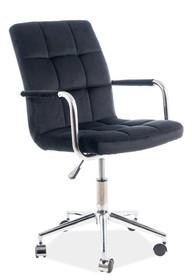 Fotel obrotowy Q-022 VELVET - czarny Bluvel 19
