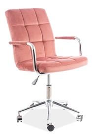 Fotel obrotowy Q-022 VELVET - różowy Bluvel 52