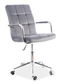 Fotel obrotowy Q-022 VELVET - szary Bluvel 14