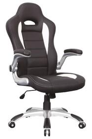 Fotel biurowy Q-024 - czarny/biały