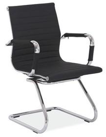 Fotel biurowy Q-123 - czarny