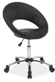 Fotel obrotowy Q-128 - czarny