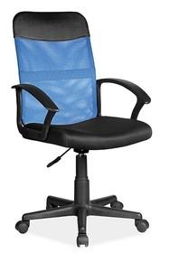Fotel obrotowy Q-702 - niebieski/czarny