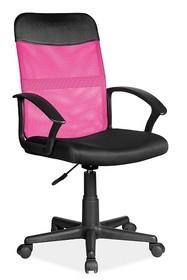 Fotel obrotowy Q-702 - różowy/czarny