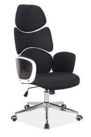 Fotel obrotowy Q-888 - czarny/biały