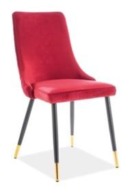 Krzesło PIANO VELVET - czerwony Bluvel 59