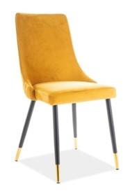 Krzesło PIANO VELVET - żółty Bluvel 68