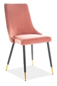 Krzesło PIANO Velvet - różowy Bluvel 52