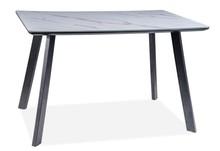 Stół SAMUEL 120x80 - marmur/czarny