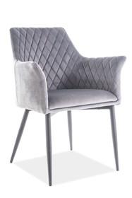 Krzesło SERGIO VELVET - szary Bluvel 14