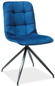 Krzesło TEXO Velvet - granatowy Bluvel 86