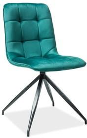 Krzesło TEXO Velvet - zielony Bluvel 78