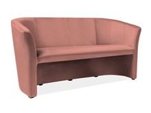 Sofa TM-3 Velvet - antyczny róż Bluvel 52