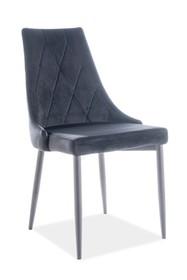 Krzesło TRIX B VELVET - czarny Bluvel 19