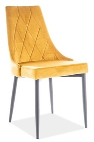 Krzesło TRIX B VELVET - żółty Bluvel 68