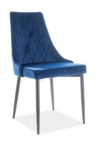 Krzesło TRIX B VELVET - granatowy Bluvel86