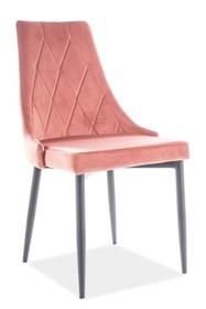 Krzesło TRIX B VELVET - antyczny róż Bluvel 52