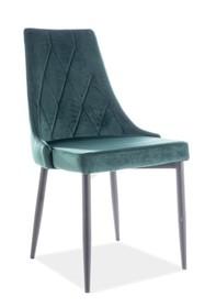 Krzesło TRIX B VELVET - zielony Bluvel78