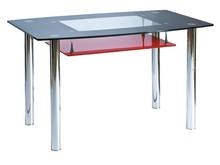 Stół TWIST A 120x75 - czarny/czerwony