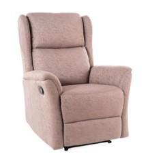 Fotel rozkładany ZEUS - brązowy