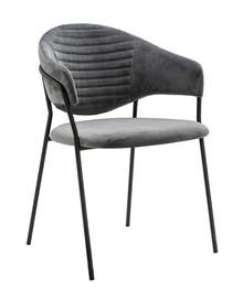 Fotel NAOMI - ciemny szary/czarny