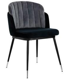 Krzesło MARCEL - ciemnoszary/czarny