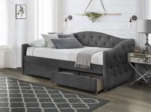 Łóżko z szufladami ALOHA 90 - popielaty