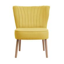 Fotel Lyon – nowoczesny model o ciekawym kształcie. Posiada ozdobne oparcie, które zwęża się ku dołowi. Usytuowany został na toczonych nóżkach w...