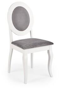Krzesło BAROCK - biały/popielaty