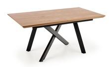 Stół rozkładany CAPITAL 2 - dąb naturalny/czarny