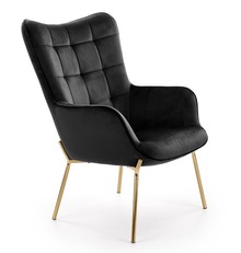 Fotel wypoczynkowy CASTEL 2 - czarny