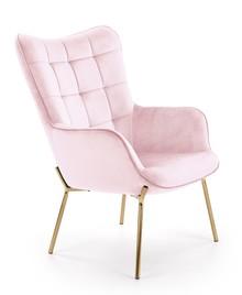 Fotel wypoczynkowy CASTEL 2 - jasny różowy