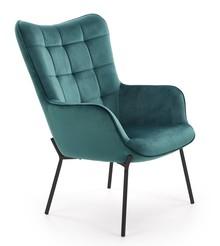Fotel wypoczynkowy CASTEL - ciemny zielony