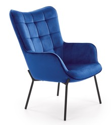 Fotel wypoczynkowy CASTEL - granatowy
