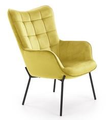 Fotel wypoczynkowy CASTEL - musztardowy