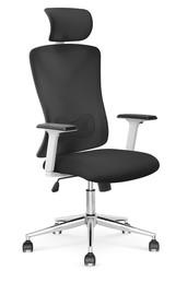 Fotel gabinetowy ENRICO - czarny/biały