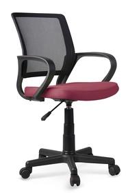 Fotel młodzieżowy JOEL - czarny/ciemny różowy