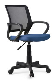 Fotel młodzieżowy JOEL - czarny/niebieski
