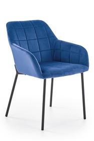 Krzesło K305 - czarny/granatowy