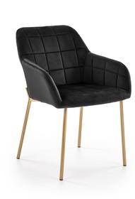 Krzesło K306 - złoty/czarny