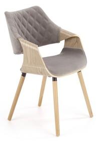Krzesło K396 - jasny dąb/popielaty