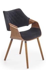 Krzesło K396 - orzech/czarny