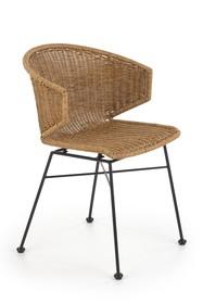 K407 krzesło naturalny / czarny