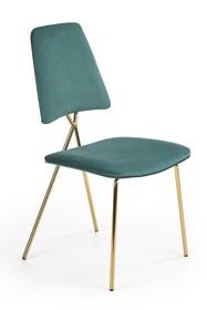 Krzesło K411 - ciemny zielony/złoty