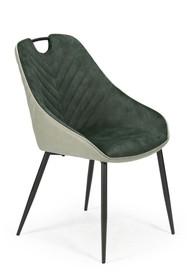 Krzesło K412 - ciemny zielony/jasny zielony