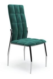 Krzesło K416 velvet - ciemny zielony